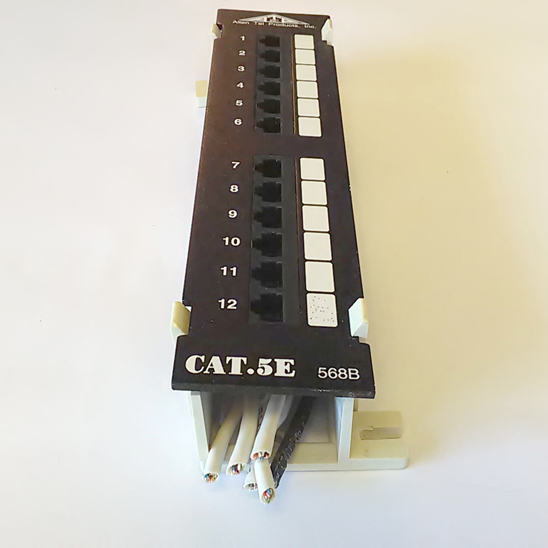 Cat5e 568b 12 Ports Patch Panel W Surface Wall Mount Bracket Allen Wiring Tel Products