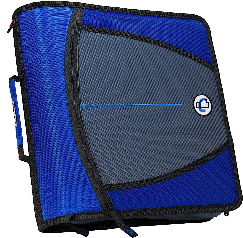 case it the mighty zip tab 3 inch blue zipper binder 3 ring school