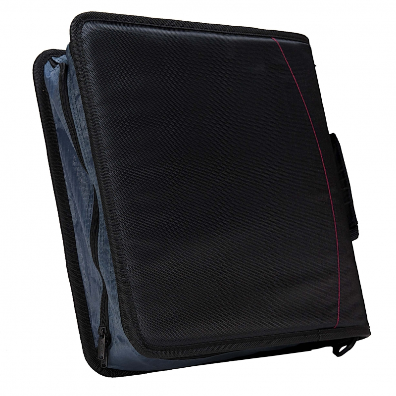 Case It The Mighty Zip Tab 3 Inch Black Zipper Binder 3