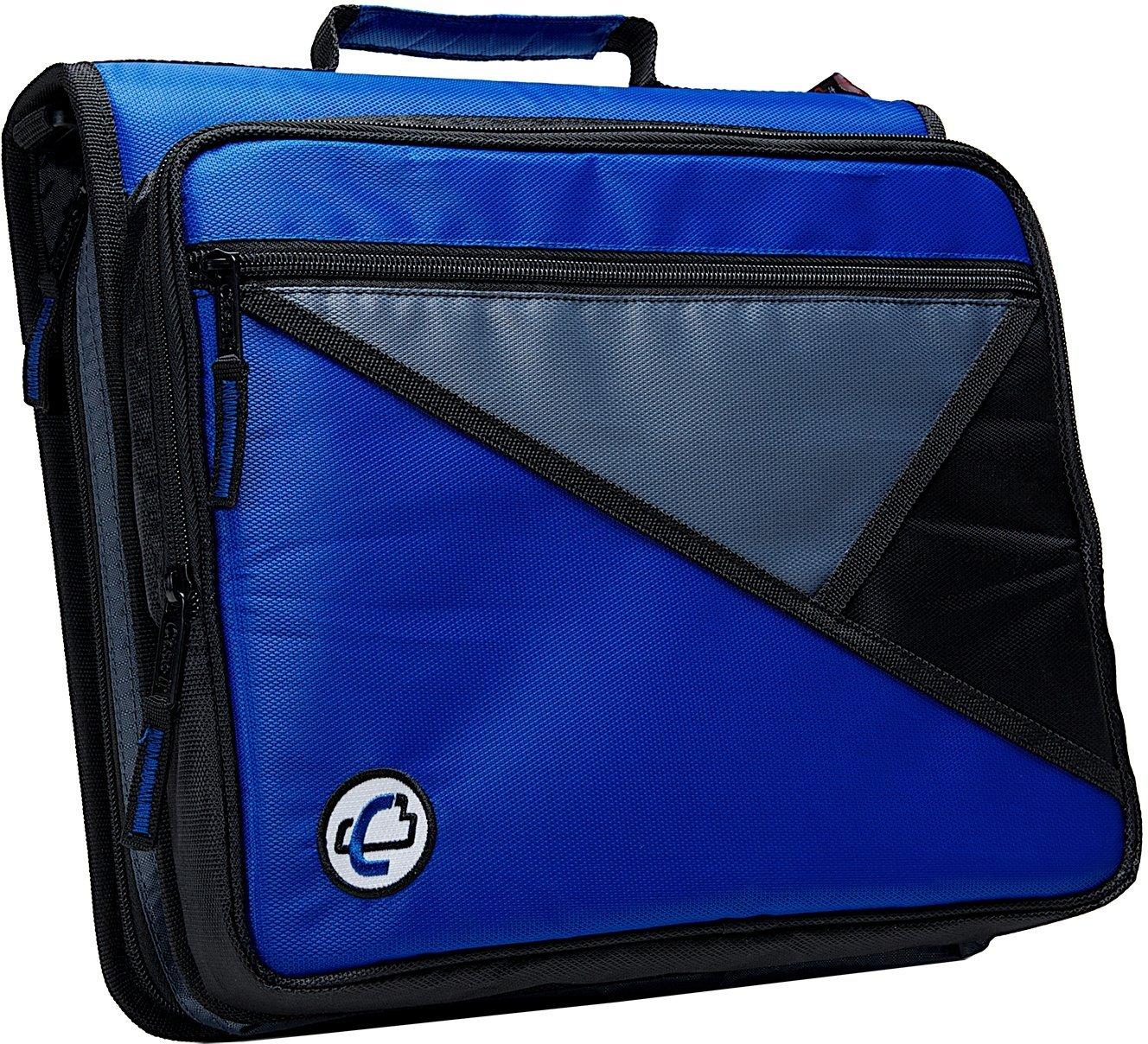 Case-it The Universal 2-Inch Blue Zipper Binder 3-Ring
