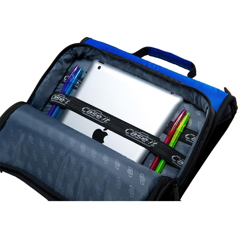 Case-it The Universal 2-Inch Blue Zipper Binder 3-Ring Office School  Organizer