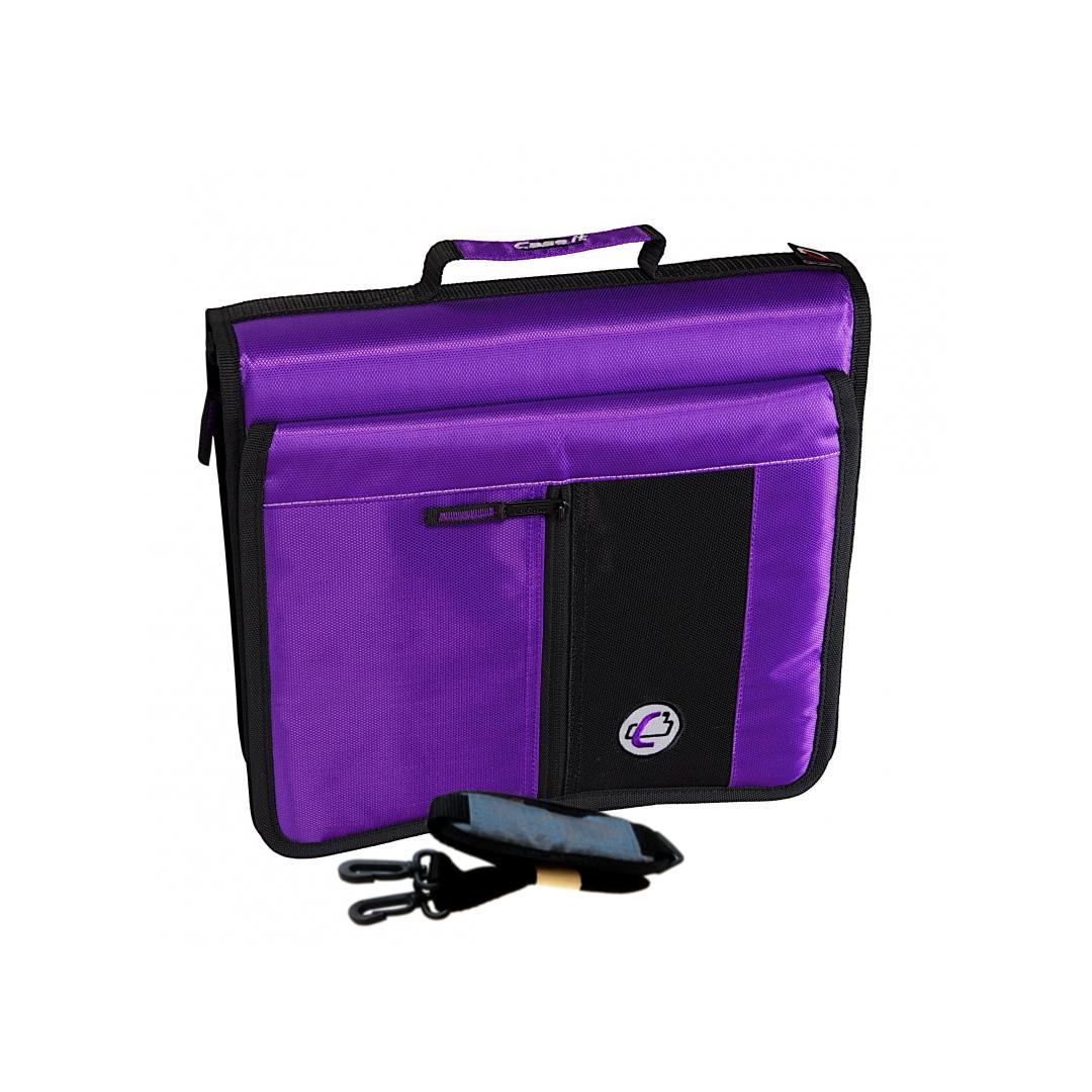 Case-it The Flip Top 2-Inch Purple Zipper Binder 3-Ring