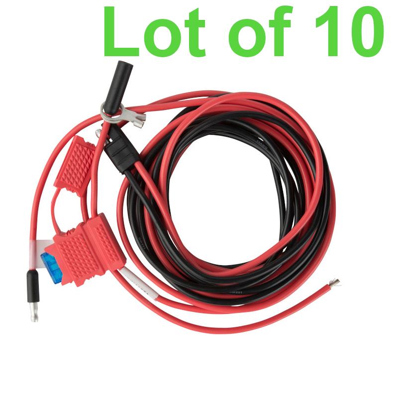 Lot of 10 HKN4137A Power Cable Motorola XTL1500 XTL2500 XTL5000